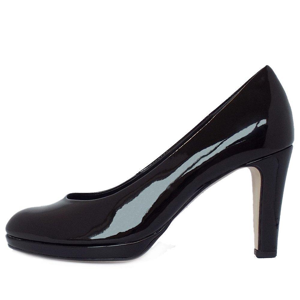 gabor shoes splendid court shoe in black patent