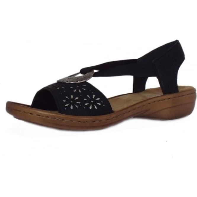 Dressy On Rieker Slip In Sandals Women's Sunflower Black Yf7bg6y