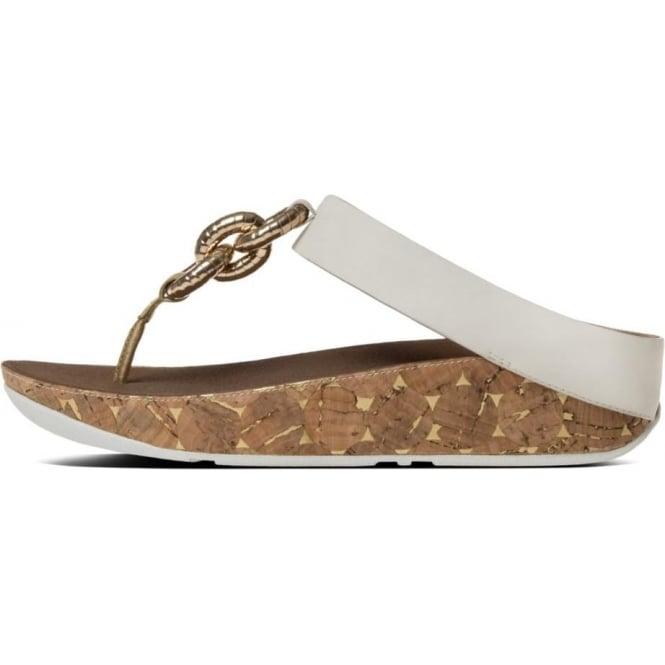 94ed4e48a Superchain™ Leather Toe Post Sandals in Urban White