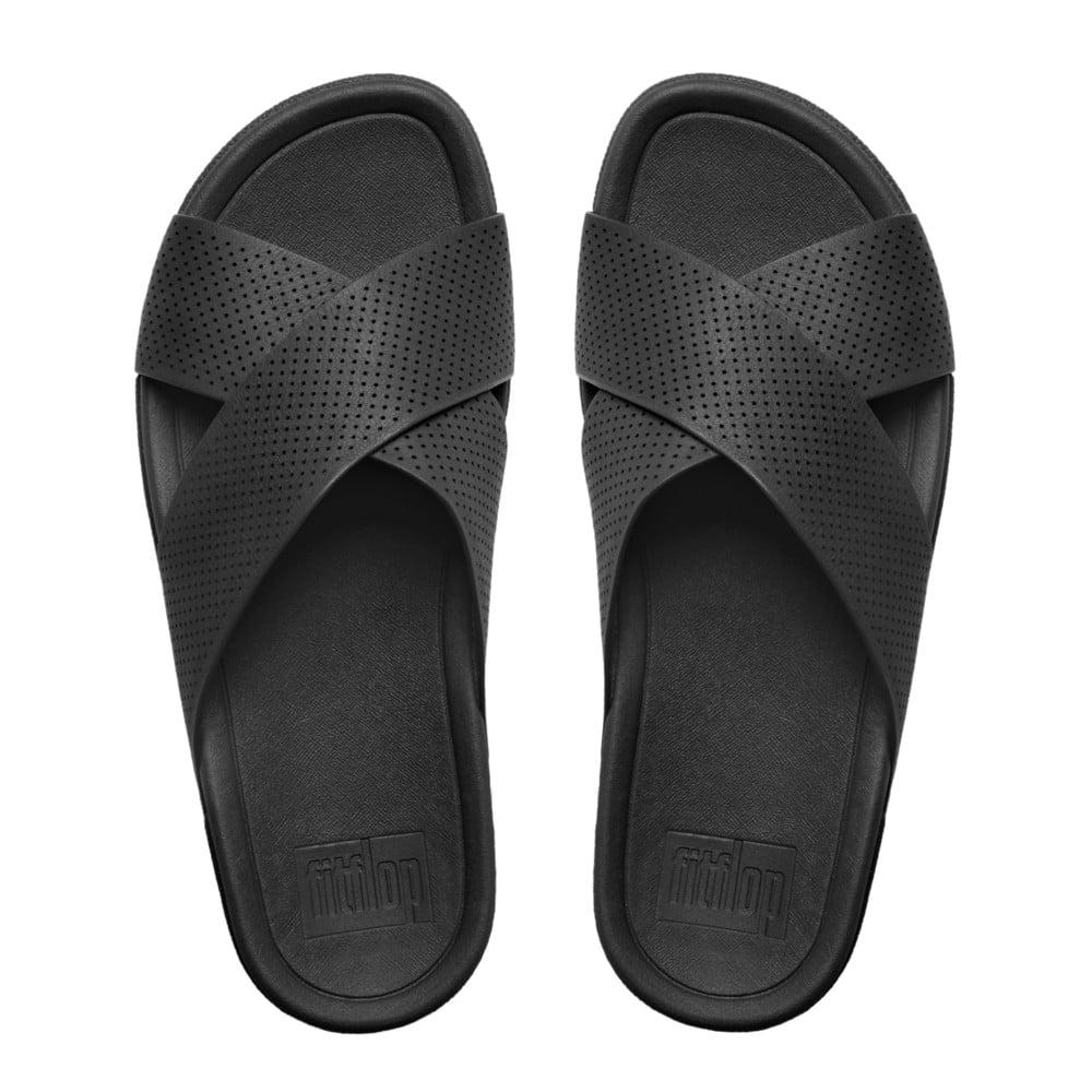 Fitflop Surfer Sandals Men S Black Leather Sandals