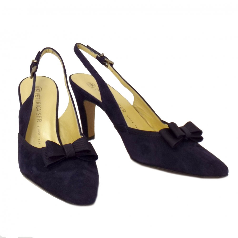 Peter Kaiser Tanina Blue Suede Slingback High Heel Shoes