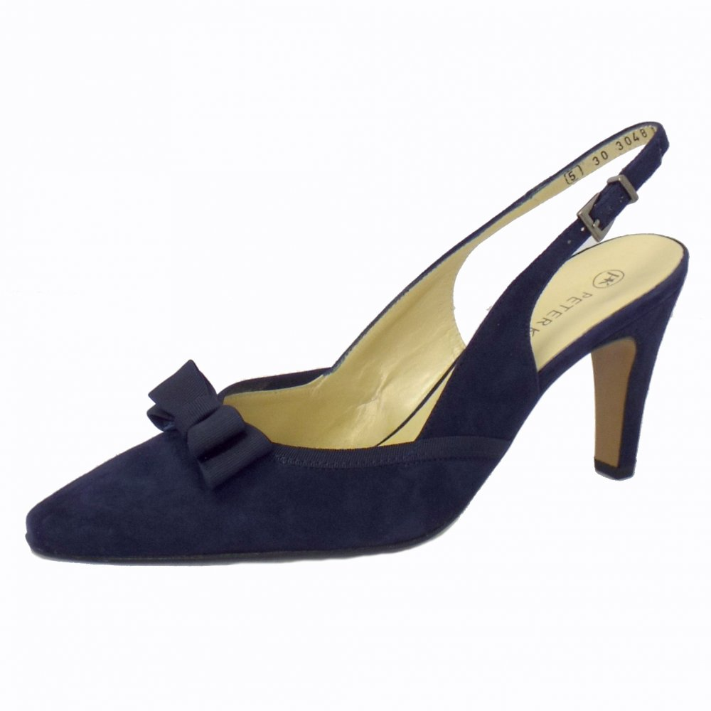 Peter Kaiser Tanina | Blue Suede Slingback High Heel Shoes | Mozimo