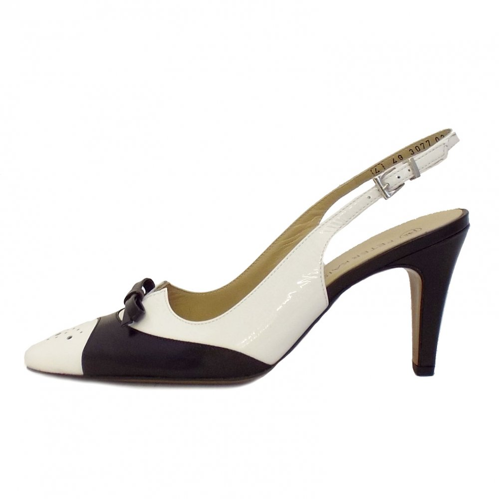 kaiser tarent black and white slingback