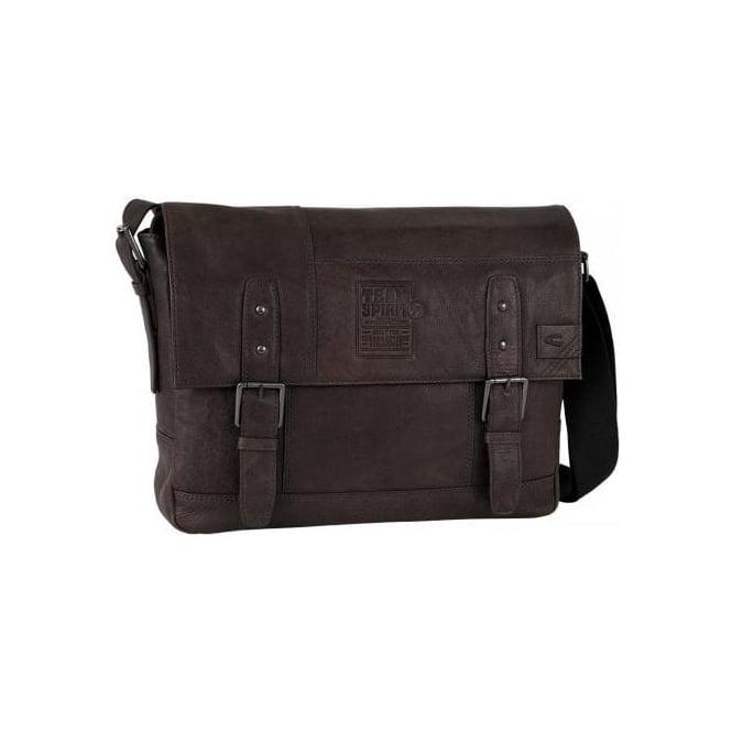 4f1714513a Camel Active Camel Active Team Spirit mens messenger bag in brown leather  129 801 29