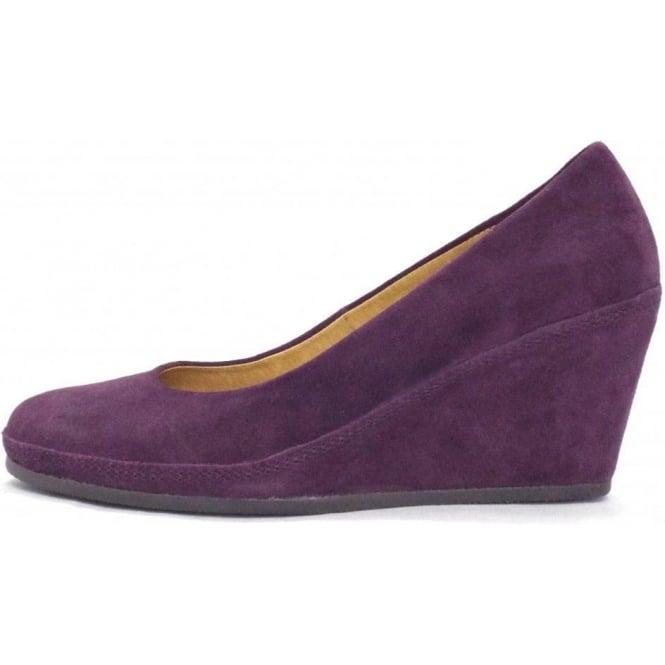 0aa893a9d0d Teller Womens Wedge Shoe In Purple Suede