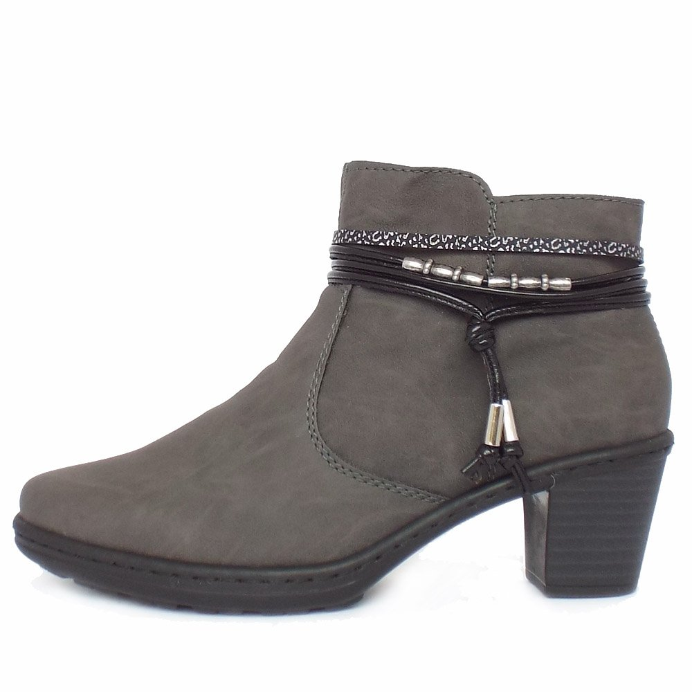 Beautiful UK Store Product Name  ECCO Touch 55 Mid Cut Bootie Womens StarbuckOslo Warm Grey ECCO Work Shoes  ECCO Women Shoes O46g7611 A Smart, Sophisticated Womens Boot In Contrasting Leathers And The Combination Of