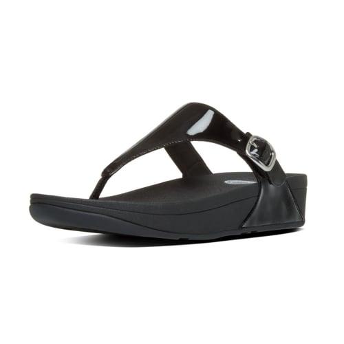 2e89ef42e The Skinny™ Women  039 s Toe Post Sandal in Black Patent