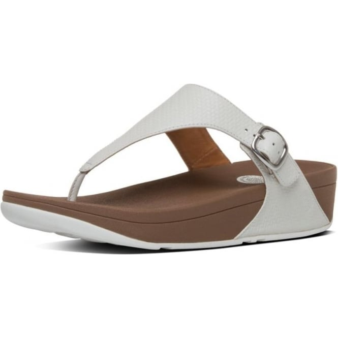 be1cec9cf3cd The Skinny™ Women  039 s Toe Post Sandal in Urban White Leather