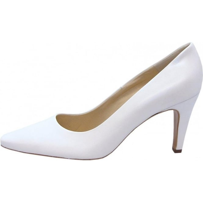 496068386 Peter Kaiser Tosca   Court shoes in white leather   Bridal shoes