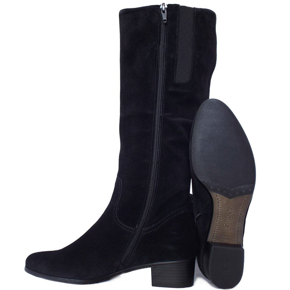 Suede Knee High Boots. Showing 48 of results that match your query. Search Product Result. Product - Women's Knee High Mid Calf Boots Ruched Suede Slouch Knitted Calf Buckles (Elma, Olive 7) Product - INC International Concepts Jordana Women Round Toe Suede Black Knee High Boot.