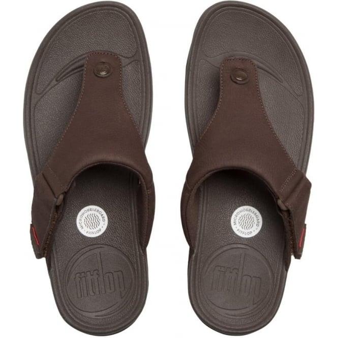 182f20097b9 Trakk™ II Mens Toe Post Sandal in Chocolate Brown