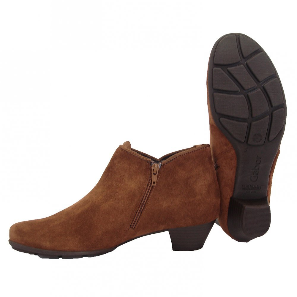 Gabor Boots | Trudy Ladies Ankle Boot In Brown | Mozimo