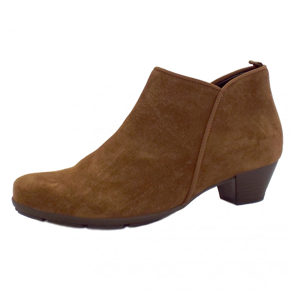Ladies Brown Suede Ankle Boots - Boot Hto