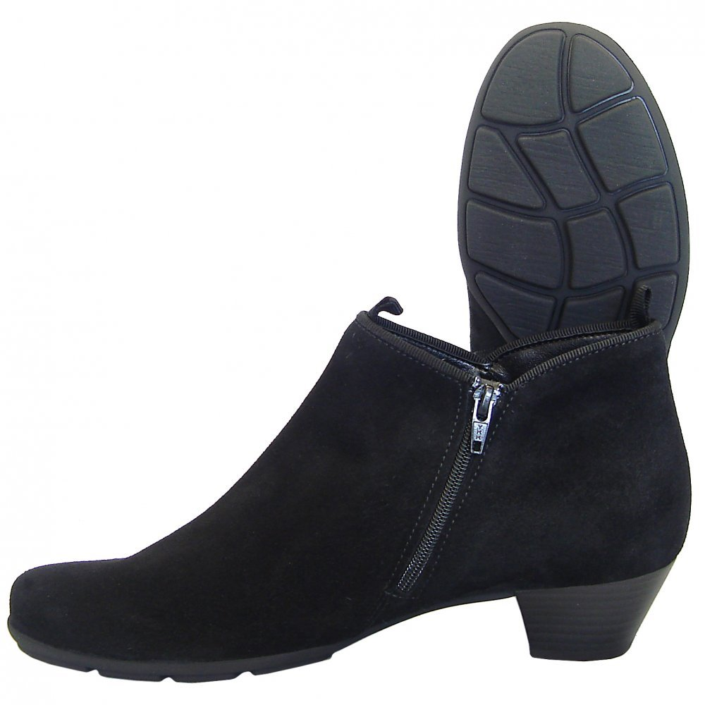 Black Ankle Boots With Low Heel | FP Boots