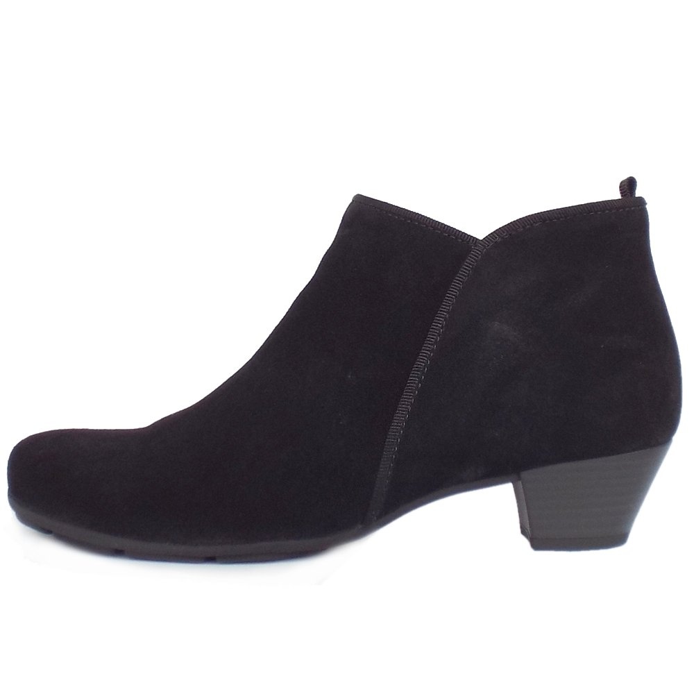 Ladies Black Suede Ankle Boots - Yu Boots