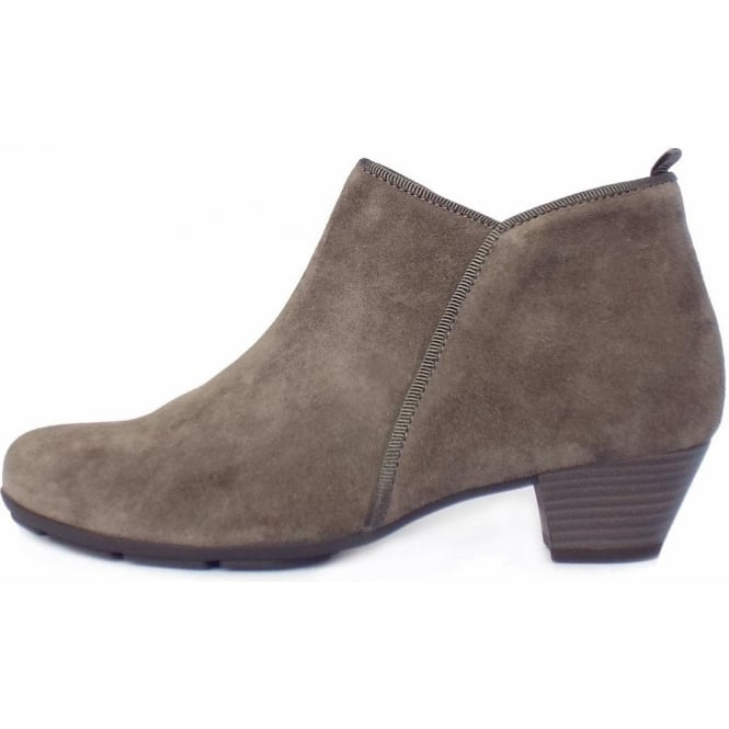72bcb9d1478 Gabor Trudy Ladies Modern Ankle Boots in Wallaby Taupe Suede