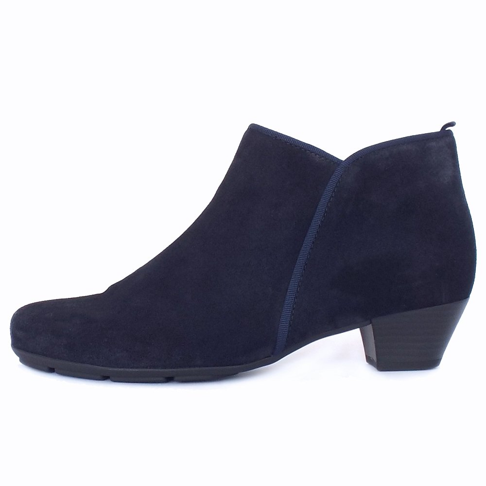 Beautiful Clarks Womens Kearns Blush Navy Leather Ankle Boot At Marshall Shoes