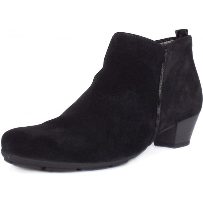d8d2af2704f8 Trudy Modern Ankle Boots in Black Suede