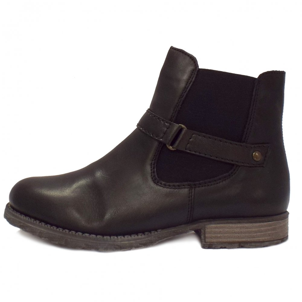 Ladies Black Ankle Snow Boots | Santa Barbara Institute for