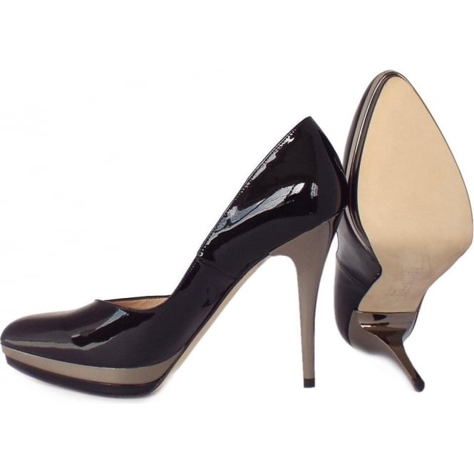 Peter Kaiser Vanessa | Women's High Heel Black Patent Court Shoes