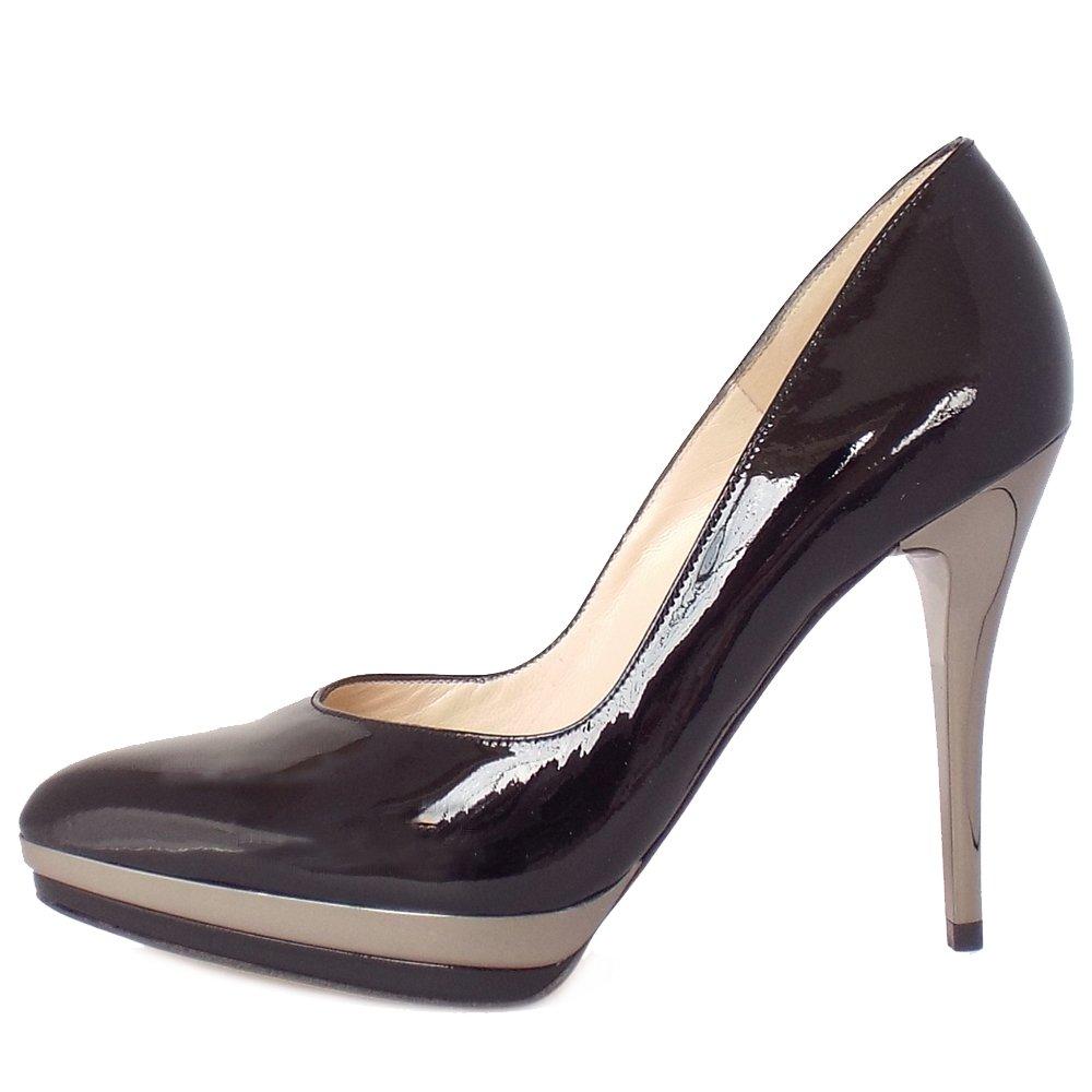 peter kaiser vanessa women 39 s high heel black patent court shoes. Black Bedroom Furniture Sets. Home Design Ideas