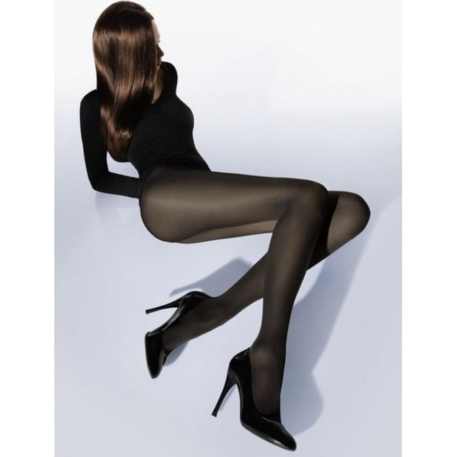 e8ab6e33f5e Wolford Velvet De Luxe 50 Denier Tights in Nearly Black