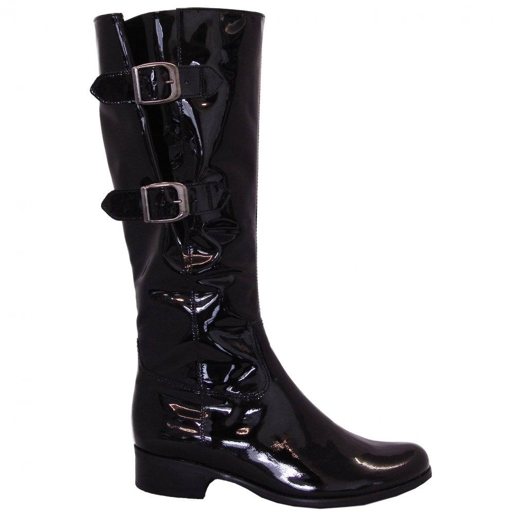 gabor boots verano boot in black patent mozimo