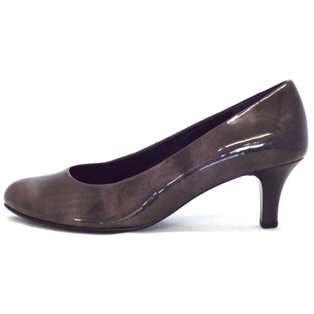 Grey Kitten Heel Shoes