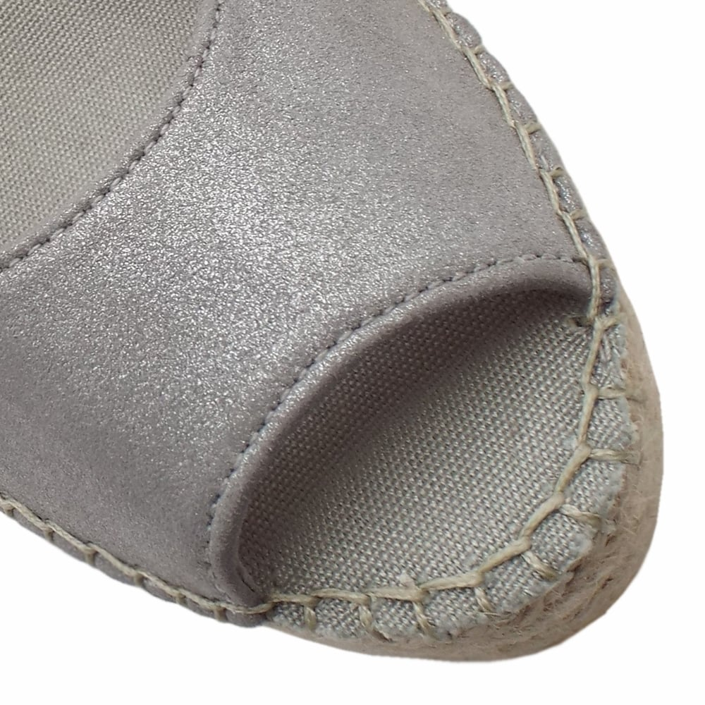 9970d106ccd Mendoza Low Wedge Espadrilles in Silver