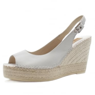 Mendoza Low Wedge Espadrilles in White