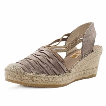 Santiago Low Wedge Espadrilles in Natural