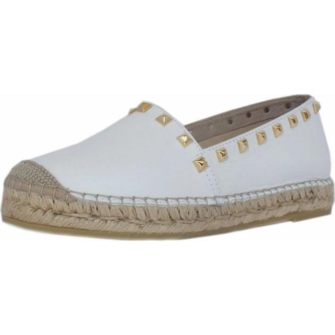 f504a5fea2b Vidorreta Vivian Trendy Platform Espadrilles in White Leather