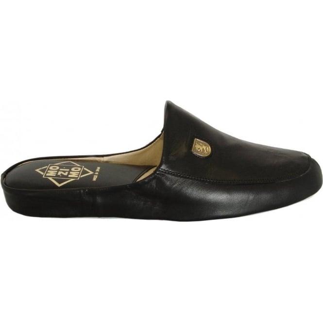 f81ec2407ee1 Williams mens luxury black leather slippers