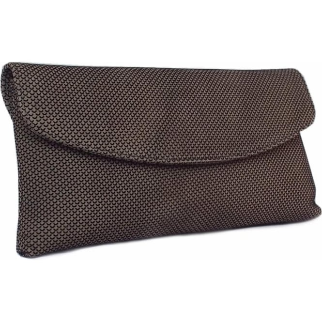 Peter Kaiser Winema Clutch Bag in Taupe Moon Suede