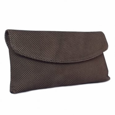 Winema Clutch Bag in Taupe Moon Suede