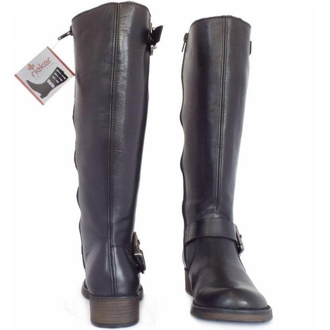 a2886aeb9 Rieker Winner Z9580-00 | Women's Wide Fit Knee High Winter Boots