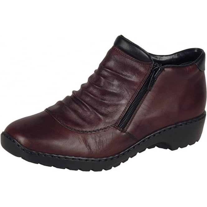 a3013fadb42 Witney Women  039 s Comfortable Wide Fit Ankle Boots in Medoc Red