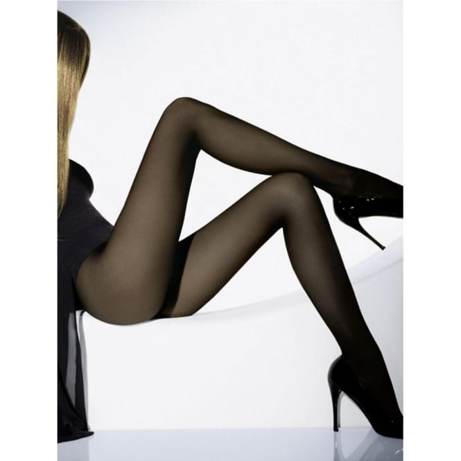 Wolford Individual 10 Women's Luxury Tights in Nearly Black