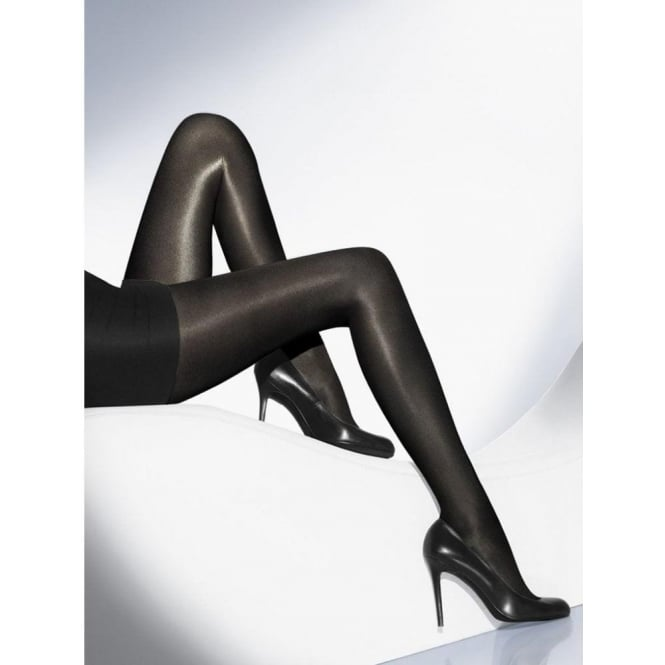 Wolford Neon 40 Women's Glossy Luxury Tights in Black