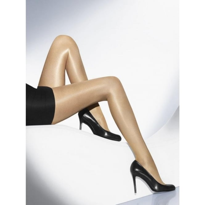 Wolford Neon 40 Women's Glossy Luxury Tights in Cosmetic