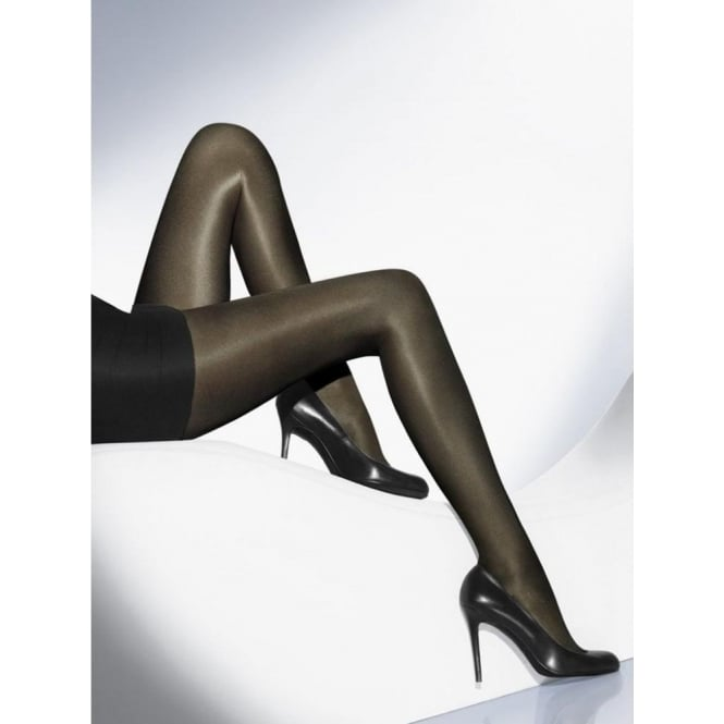 Wolford Neon 40 Women's Glossy Luxury Tights in Nearly Black