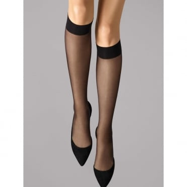 Satin Touch 20 Knee-Highs in Black