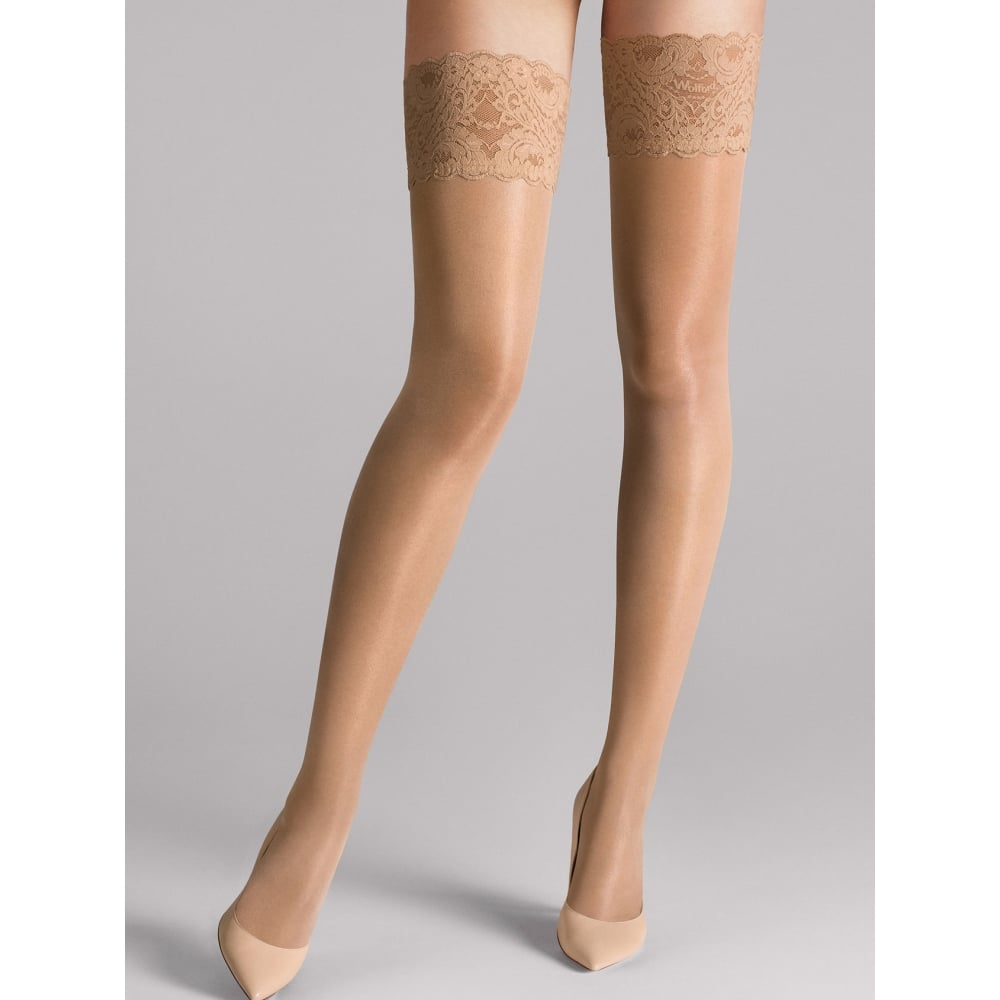 d24725c08 Wolford Wolford Satin Touch 20 Stay Up Tights in Caramel