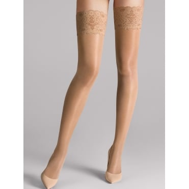 Satin Touch 20 Stay Up Tights in Caramel