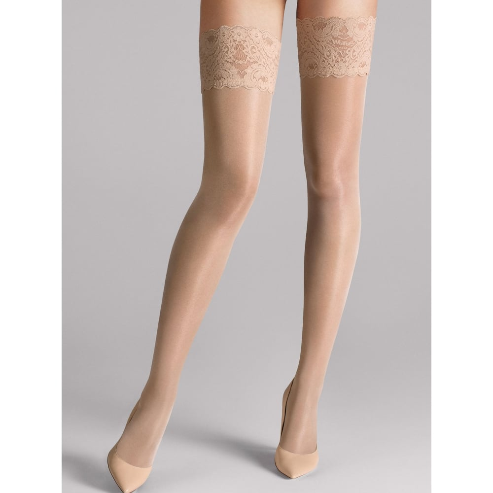 9038b5d0a02 Wolford Wolford Satin Touch 20 Stay-Up Tights in Cosmetic