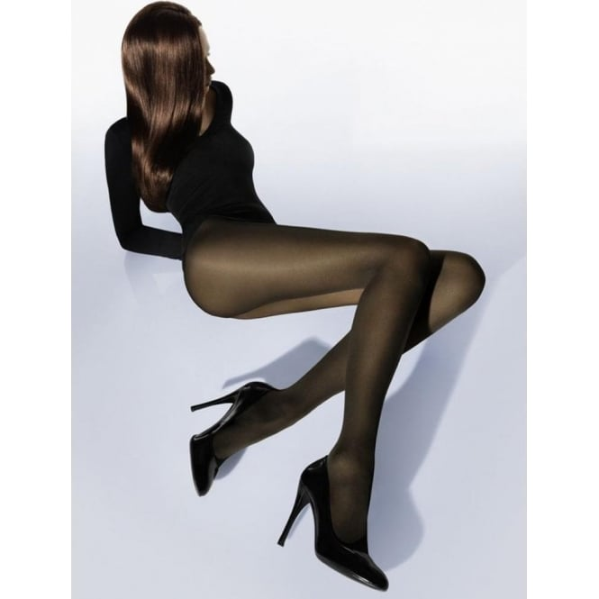 Wolford Velvet De Luxe 50 Denier Tights in Mocca Brown