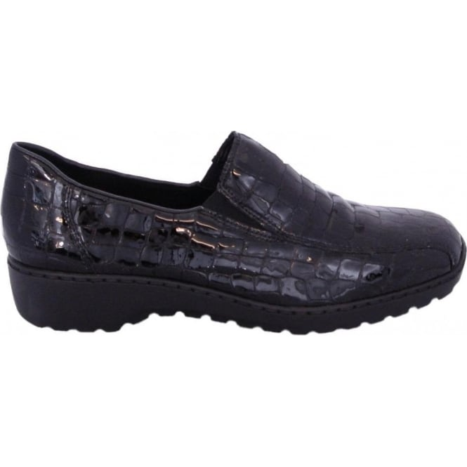 9abc194d0f92 Wonder Doro L6070-00 casual slip on shoes in black patent