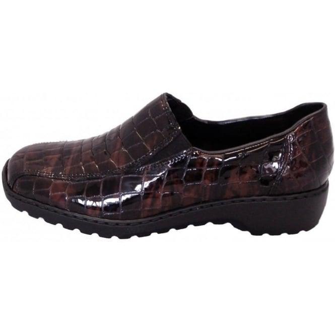 7a26a5b7c Rieker Doro Wonder L6070-26 | Casual slip on shoes in black-brown ...