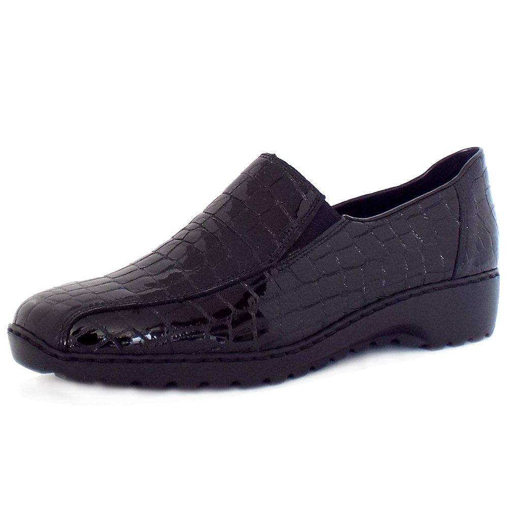 rieker wonderer l6070 comfortable mock croc leather