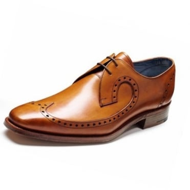 Woody Mens Formal Lace-Up Shoes In Cedar Calf Leather